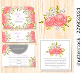 wedding invitation cards with... | Shutterstock .eps vector #229852021