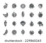 fruit and vegetable icons | Shutterstock .eps vector #229860265