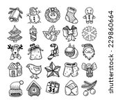 set of black and white sketch... | Shutterstock .eps vector #229860664