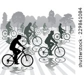 cyclists silhouettes. active... | Shutterstock .eps vector #229861084