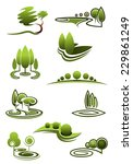 Green Trees In Landscapes Icon...