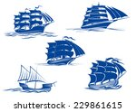 ancient and medieval sailing... | Shutterstock .eps vector #229861615