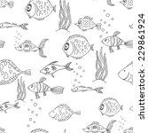 black and white seamless... | Shutterstock .eps vector #229861924