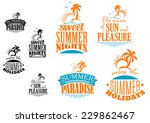 set of summer vacation icons... | Shutterstock .eps vector #229862467