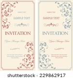 set of antique greeting cards ... | Shutterstock .eps vector #229862917