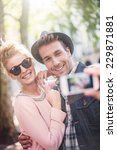 young trendy couple in the city ... | Shutterstock . vector #229871881