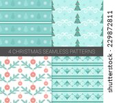 set of simple christmas... | Shutterstock .eps vector #229872811