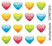 vector valentine hearts | Shutterstock .eps vector #22987303