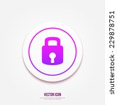 lock icon. modern style vector... | Shutterstock .eps vector #229878751