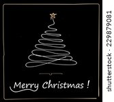 christmas hand drawn doodles... | Shutterstock .eps vector #229879081