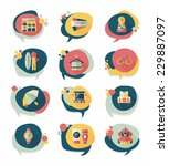 travel bubble speech banner... | Shutterstock .eps vector #229887097