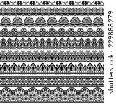 set of black lace borders... | Shutterstock . vector #229888279