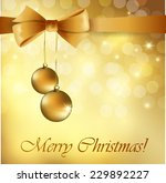 gold christmas background with... | Shutterstock .eps vector #229892227