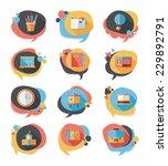 school bubble speech banner... | Shutterstock .eps vector #229892791