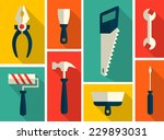 set of flat construction tools | Shutterstock .eps vector #229893031