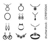 set of jewelry icons. | Shutterstock .eps vector #229893064
