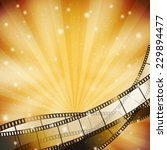 background with retro filmstrip ... | Shutterstock .eps vector #229894477