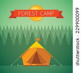 forest camping vector concept... | Shutterstock .eps vector #229900099