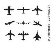 different monochrome vector... | Shutterstock .eps vector #229900114