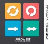 arrow icons  flat ui design...