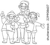 Outlined Christmas Carolers....