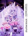 Table Set For Wedding Receptio...