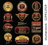anniversary golden label... | Shutterstock .eps vector #229911919