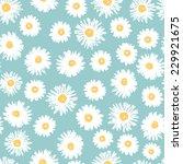 Simple Daisy Flowers Seamless...