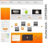 website template vector...