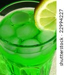 green longdrink with ice cubes... | Shutterstock . vector #22994227