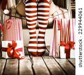 Sexy Santa Woman Legs....