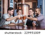 friends have met at the bar.... | Shutterstock . vector #229951009