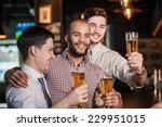 friends met after a hard day.... | Shutterstock . vector #229951015