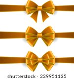 set of yellow bows | Shutterstock .eps vector #229951135