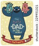 father's day illustration... | Shutterstock .eps vector #229951321