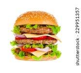 big beautiful juicy burger with ... | Shutterstock . vector #229951357