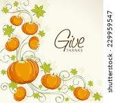 happy thanksgiving day...   Shutterstock .eps vector #229959547