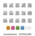 sport icons    outline buttons  ... | Shutterstock .eps vector #229961485