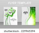 flyer template ecology design... | Shutterstock .eps vector #229965394