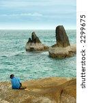 rocks along the coast of ko... | Shutterstock . vector #2299675