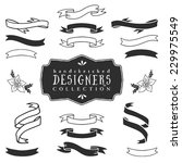ink decorative ribbon banners.... | Shutterstock .eps vector #229975549