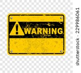 warning | Shutterstock .eps vector #229986061