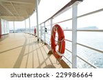 Life Buoy On The Deck Of Cruise ...