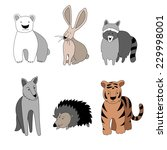 vector isolated set of six... | Shutterstock .eps vector #229998001