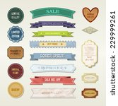 vintage elements set | Shutterstock .eps vector #229999261
