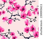 Seamless Pattern Branch Orchid 7