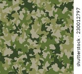 seamless camouflage pattern   Shutterstock .eps vector #230012797