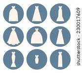 different styles of wedding...   Shutterstock .eps vector #230017609