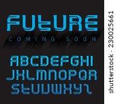 futuristic font  inverse... | Shutterstock .eps vector #230025661