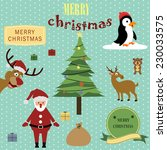 cute christmas background | Shutterstock . vector #230033575